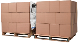 products being shipped on wooden pallets with dunnage shipping airbags